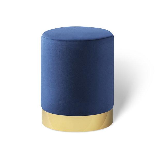 Velvet poef - Belle Deluxe Koningsblauw