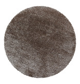 Adana Carpets Rond Hoogpolig vloerkleed - Blushy Taupe
