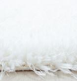 Adana Carpets Rond Hoogpolig vloerkleed - Blushy Wit