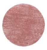 Adana Carpets Rond Hoogpolig vloerkleed - Blushy Roze