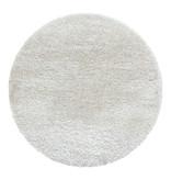 Adana Carpets Rond Hoogpolig vloerkleed - Blushy Creme/Wit