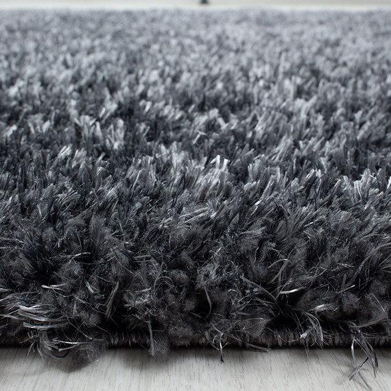 Adana Carpets Rond Hoogpolig vloerkleed - Blushy Donkergrijs