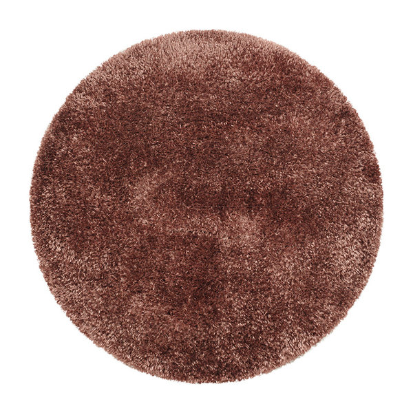 Rond Hoogpolig vloerkleed - Blushy Terra/Bruin