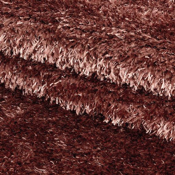 Adana Carpets Rond Hoogpolig vloerkleed - Blushy Terra/Bruin
