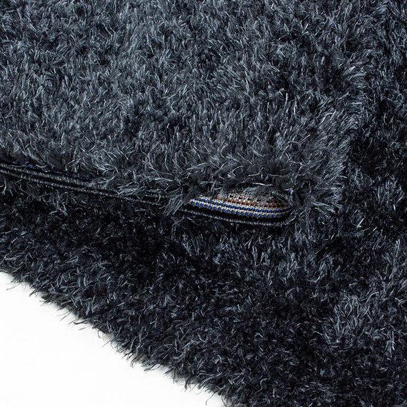Adana Carpets Rond Hoogpolig vloerkleed - Blushy Zwart