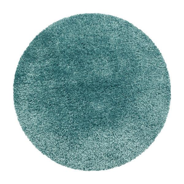 Rond Hoogpolig vloerkleed - Blushy Turquoise