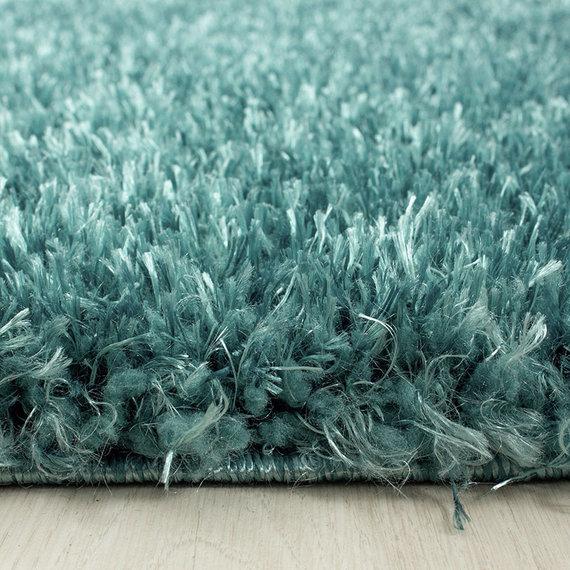 Adana Carpets Rond Hoogpolig vloerkleed - Blushy Turquoise
