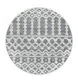 Adana Carpets Rond scandinavisch vloerkleed - Pitea Knot Grijs/Creme