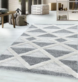 Adana Carpets Scandinavisch vloerkleed - Pitea Lines Grijs/Creme