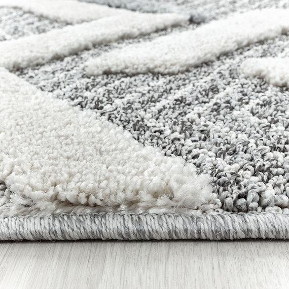 Adana Carpets Rond scandinavisch vloerkleed - Pitea Panel Grijs/Creme