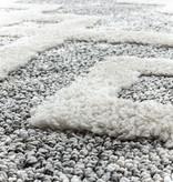 Adana Carpets Rond scandinavisch vloerkleed - Pitea Retro Grijs/Creme