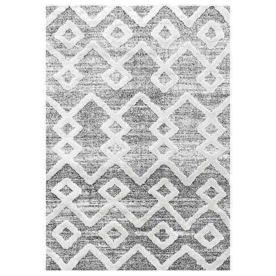 Adana Carpets Scandinavisch vloerkleed - Pitea Retro Grijs/Creme