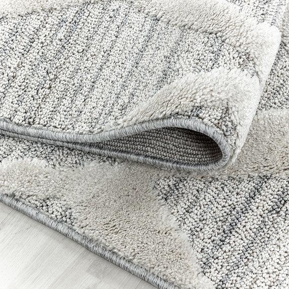 Adana Carpets Rond scandinavisch vloerkleed - Pitea Diamond Grijs