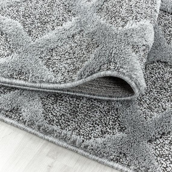 Adana Carpets Rond scandinavisch vloerkleed - Pitea Tile Grijs