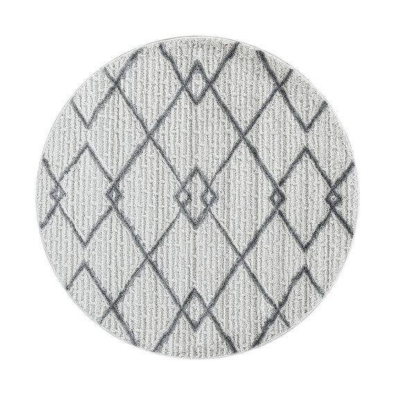 Adana Carpets Rond scandinavisch vloerkleed - Pitea Strangle Creme