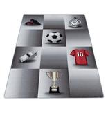 Adana Carpets Voetbalkleed - Pleun Kampioen Grijs