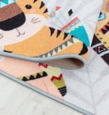 Adana Carpets Speelkleed - Pleun Dieren Hinkelbaan Grijs