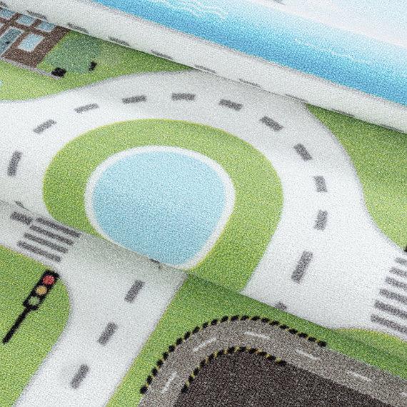 Adana Carpets Speelkleed - Pleun Autoweg Groen
