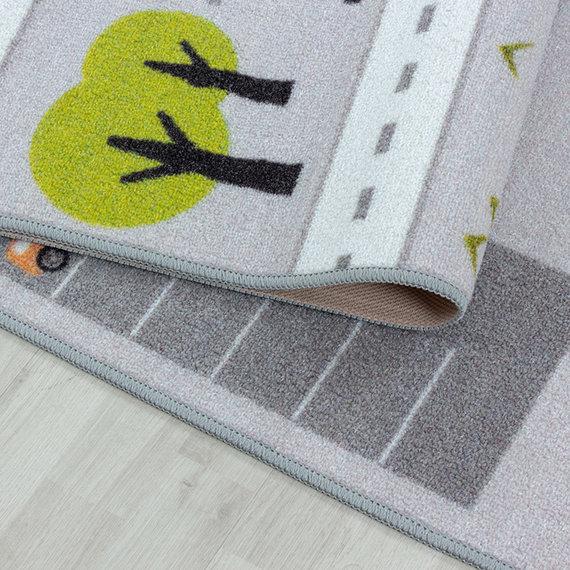 Adana Carpets Speelkleed - Pleun Autoweg Grijs