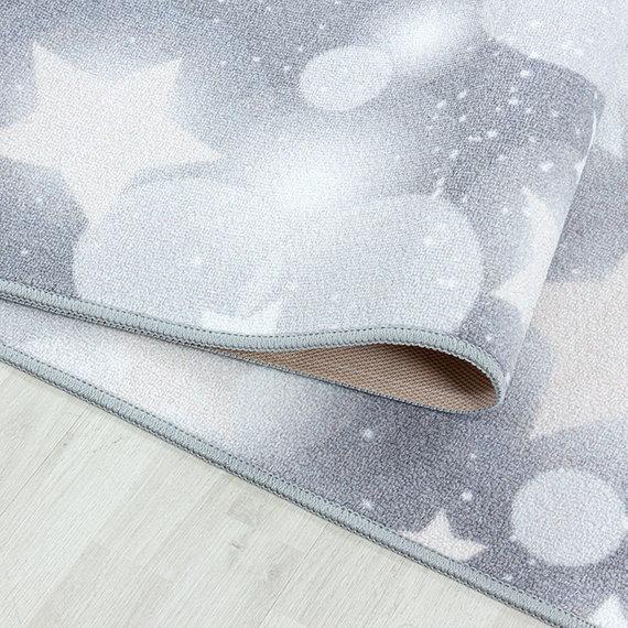Adana Carpets Kindervloerkleed - Pleun Sterren Grijs