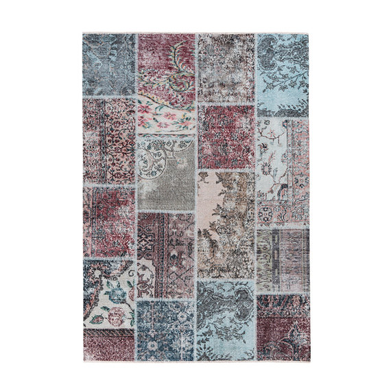 Kay Patchwork vloerkleed - Toska Multicolor Rood