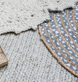 Brinker carpets Rond vloerkleed Mainday - Blauw/wit