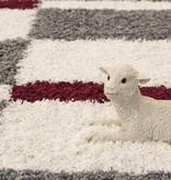 Adana Carpets Hoogpolige loper - Gala Rood