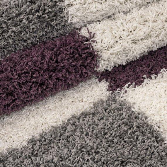 Adana Carpets Hoogpolige loper - Gala Paars