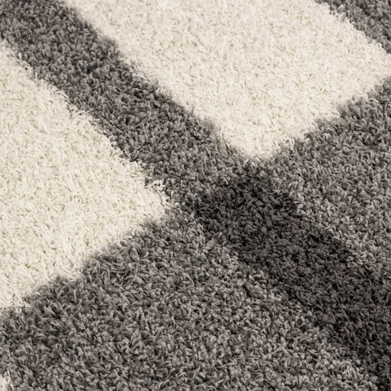 Adana Carpets Hoogpolige loper - Gala Licht Grijs