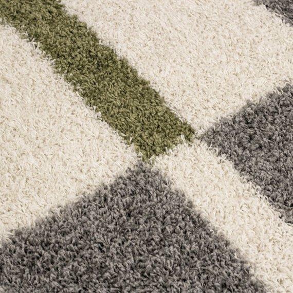 Adana Carpets Hoogpolige loper - Gala Groen