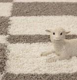 Adana Carpets Hoogpolige loper - Gala Beige