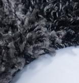 Adana Carpets Hoogpolige loper - Cube Zwart
