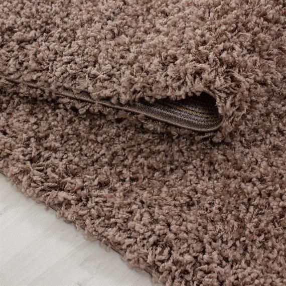 Adana Carpets Hoogpolige loper - Life Mokka