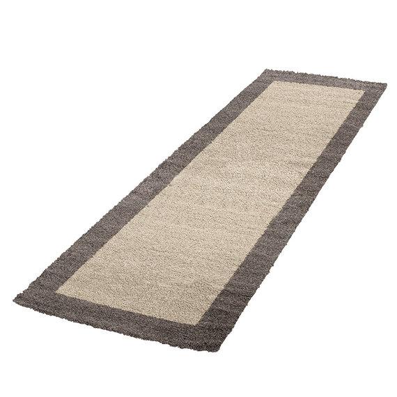 Adana Carpets Hoogpolige loper - Edge Taupe