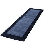 Adana Carpets Hoogpolige loper - Edge Blauw