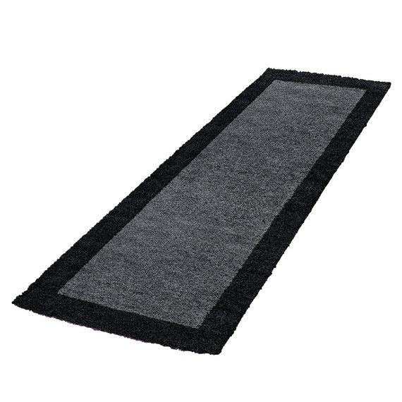 Adana Carpets Hoogpolige loper - Edge Zwart