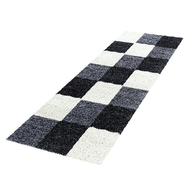 Hoogpolige loper - Cube Zwart