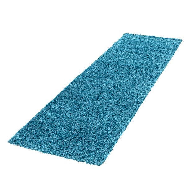 Hoogpolige loper - Life Turquoise