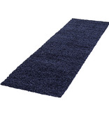 Adana Carpets Hoogpolige loper - Life Blauw