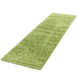 Adana Carpets Hoogpolige loper - Life Groen