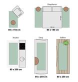 Adana Carpets Hoogpolige loper - Cube Terracotta