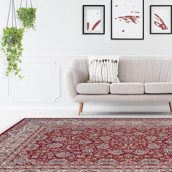 Perzisch vloerkleed - Kwait Hawally Rood/Multicolor