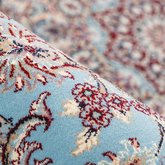 Kay Perzisch vloerkleed - Kwait Abdali Blauw/Multicolor