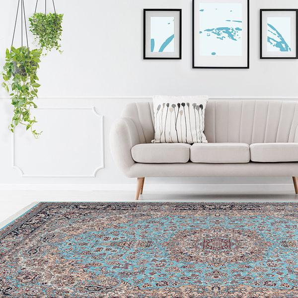 Perzisch vloerkleed - Kwait Abdali Blauw/Multicolor