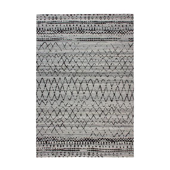 Kay Wollen vloerkleed - Prettily Outline Beige/Grijs