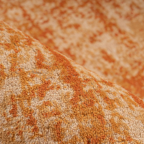 Kay Laagpolig vloerkleed - Piemonte Plain Oranje