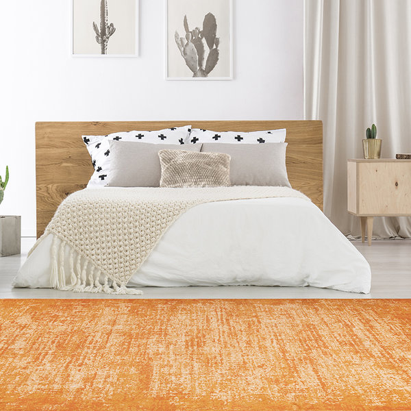 Laagpolig vloerkleed - Piemonte Plain Oranje