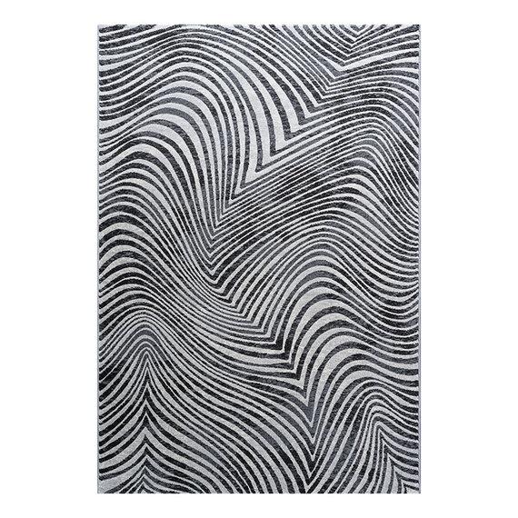 Antoin Carpets Modern vloerkleed - Alvie Zwart 7696