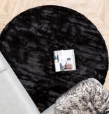 FRAAI Rond Hoogpolig vloerkleed - Comfy Zwart