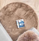 FRAAI Rond Hoogpolig vloerkleed - Comfy Taupe